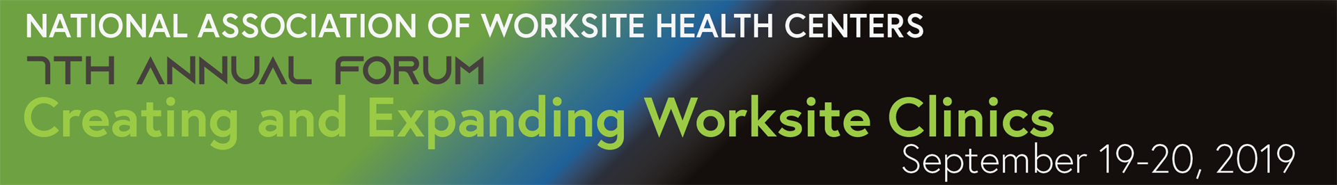 National Association of Worksite Health Centers - Sept  19